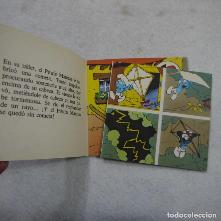 Tebeos: MINICUENTOS PITUFOS N.º 4. EL PITUFO VOLADOR - BRUGUERA - 1981 - 1.ª EDICION - Foto 2 - 187458528
