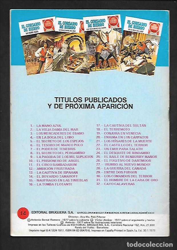 Tebeos: JOYAS LITERARIAS JUVENILES NUMERO 14 EL CORSARIO DE HIERRO EL BOYARDO TAMAROFF - Foto 2 - 187463395