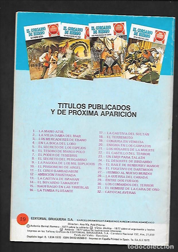 Tebeos: JOYAS LITERARIAS JUVENILES NUMERO 19 EL CORSARIO DE HIERRO CONJURA EN VENECIA - Foto 2 - 187464423