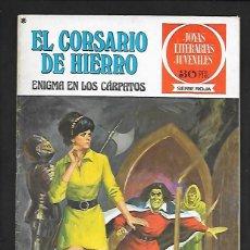 Tebeos: JOYAS LITERARIAS JUVENILES NUMERO 20 EL CORSARIO DE HIERRO ENIGMA EN LOS CARPATOS. Lote 187464630