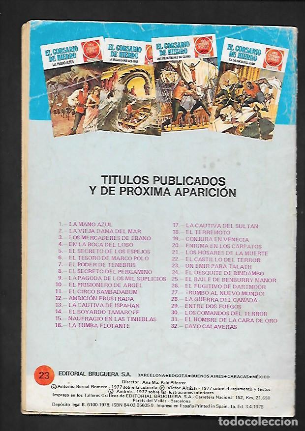 Tebeos: JOYAS LITERARIAS JUVENILES NUMERO 23 EL CORSARIO DE HIERRO UN EMIR PARA TALATH - Foto 2 - 187465085