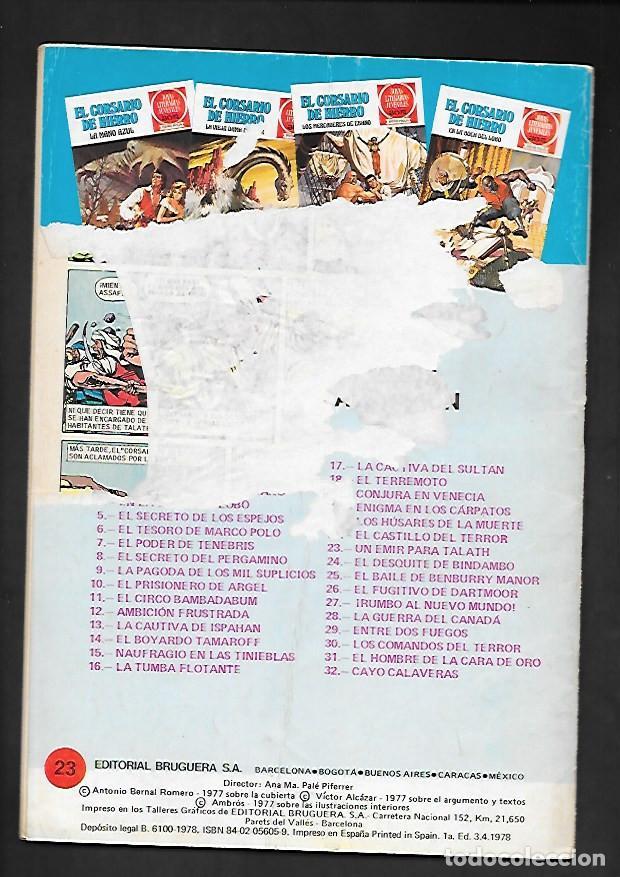 Tebeos: JOYAS LITERARIAS JUVENILES NUMERO 23 EL CORSARIO DE HIERRO UN EMIR PARA TALATH - Foto 2 - 187465283