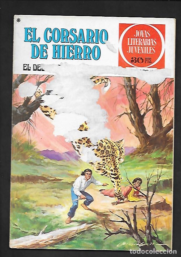 JOYAS LITERARIAS JUVENILES NUMERO 24 EL CORSARIO DE HIERRO EL DESQUITE DE BINDAMBO (Tebeos y Comics - Bruguera - Corsario de Hierro)