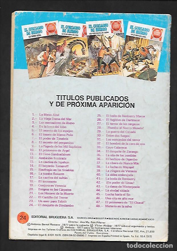 Tebeos: JOYAS LITERARIAS JUVENILES NUMERO 24 EL CORSARIO DE HIERRO EL DESQUITE DE BINDAMBO - Foto 2 - 187465612