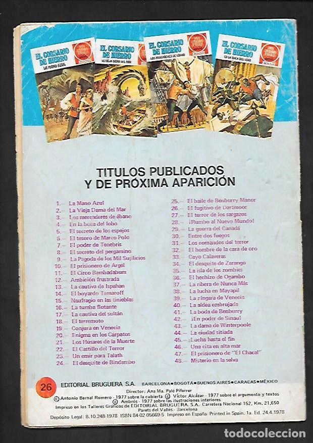Tebeos: JOYAS LITERARIAS JUVENILES NUMERO 26 EL CORSARIO DE HIERRO EL FUGITIVO DE DARTMOOR - Foto 2 - 187465922