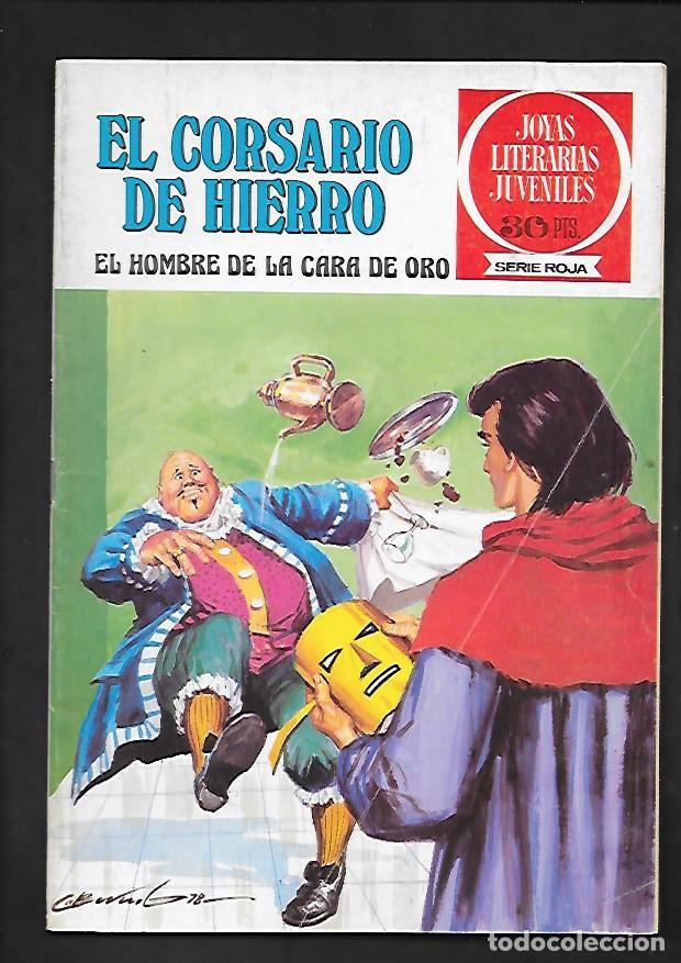 JOYAS LITERARIAS JUVENILES NUMERO 32 EL CORSARIO DE HIERRO EL HOMBRE DE LA CARA DE ORO (Tebeos y Comics - Bruguera - Corsario de Hierro)