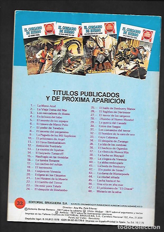 Tebeos: JOYAS LITERARIAS JUVENILES NUMERO 33 EL CORSARIO DE HIERRO CAYO CALAVERAS - Foto 2 - 187466731
