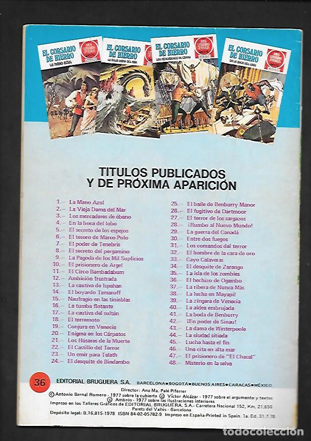 Tebeos: JOYAS LITERARIAS JUVENILES NUMERO 36 EL CORSARIO DE HIERRO EL HECHIZO DE OGAMBO - Foto 2 - 187467025