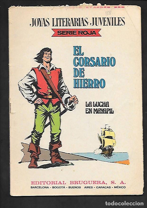 JOYAS LITERARIAS JUVENILES NUMERO 38 EL CORSARIO DE HIERRO LA LUCHA EN MAYAPIL (Tebeos y Comics - Bruguera - Corsario de Hierro)