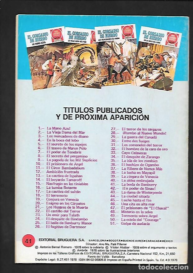 Tebeos: JOYAS LITERARIAS JUVENILES NUMERO 41 EL CORSARIO DE HIERRO LA BODA DE BENBURRY - Foto 2 - 187467445