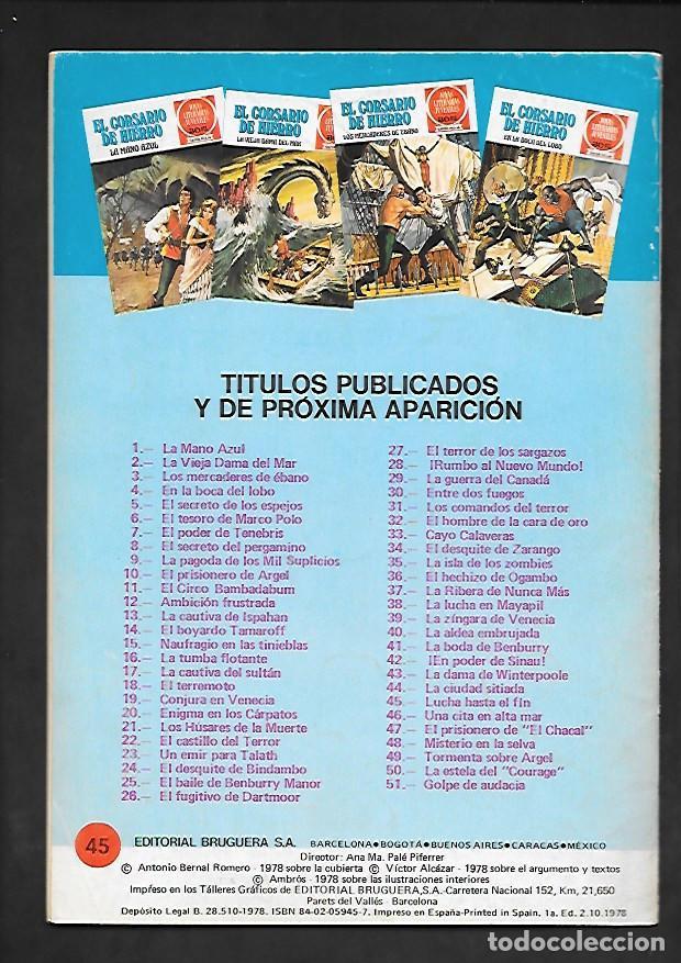 Tebeos: JOYAS LITERARIAS JUVENILES NUMERO 45 EL CORSARIO DE HIERRO LUCHA HASTA EL FIN - Foto 2 - 187468043