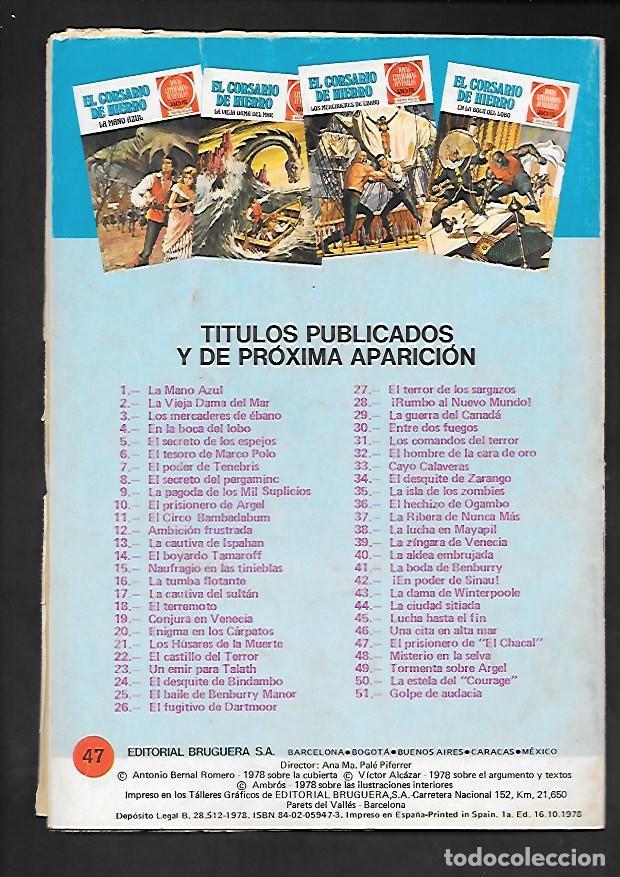 Tebeos: JOYAS LITERARIAS JUVENILES NUMERO 47 EL CORSARIO DE HIERRO EL PRISIONERO DE EL CHACAL - Foto 2 - 187473521