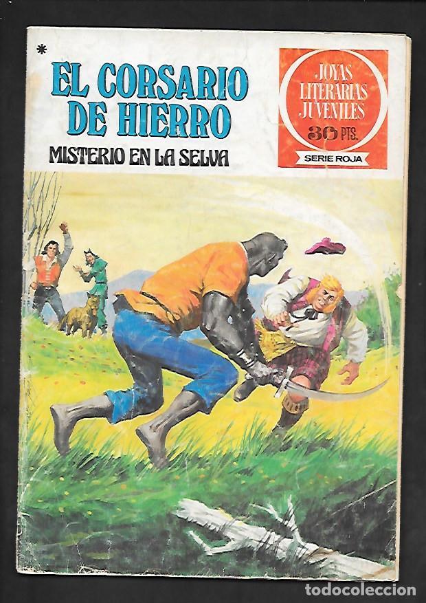 JOYAS LITERARIAS JUVENILES NUMERO 48 EL CORSARIO DE HIERRO MISTERIO EN LA SELVA (Tebeos y Comics - Bruguera - Corsario de Hierro)
