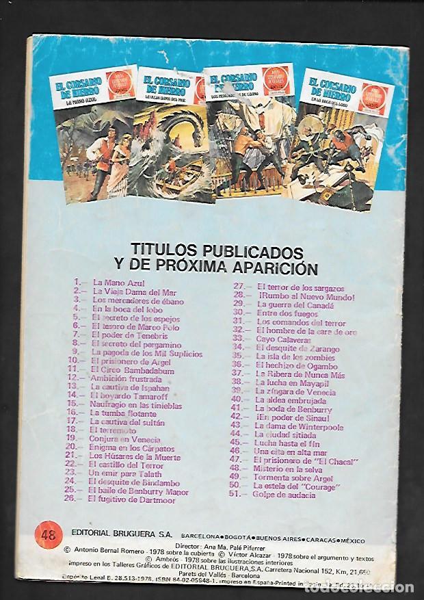 Tebeos: JOYAS LITERARIAS JUVENILES NUMERO 48 EL CORSARIO DE HIERRO MISTERIO EN LA SELVA - Foto 2 - 187473747