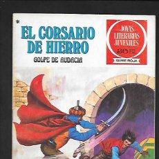 Tebeos: JOYAS LITERARIAS JUVENILES NUMERO 51 EL CORSARIO DE HIERRO GOLPE DE AUDACIA. Lote 187473876