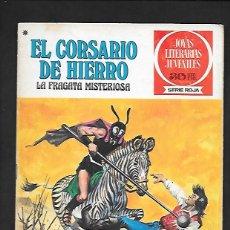 Tebeos: JOYAS LITERARIAS JUVENILES NUMERO 52 EL CORSARIO DE HIERRO LA FRAGATA MISTERIOSA. Lote 187474017