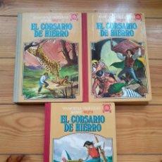 Tebeos: EL CORSARIO DE HIERRO TOMOS II III Y IV - FAMOSAS NOVELAS SERIE ROJA D3. Lote 187571840