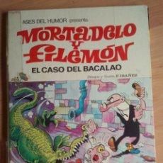 Tebeos: ASES DEL HUMOR - MORTADELO Y FILEMÓN. EL CASO DEL BACALAO. 1971. Lote 188439665