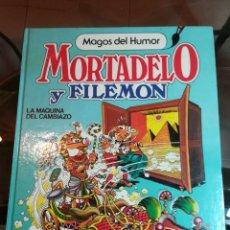 Tebeos: MAGOS DEL HUMOR. MORTADELO Y FILEMÓN. LA MÁQUINA DEL CAMBIAZO. 1ª EDICIÓN BRUGUERA 1985. Lote 188476496