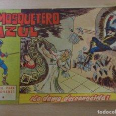 Tebeos: EL MOSQUETERO AZUL NÚM. 6. LA DAMA DESCONOCIDA. EDITA BRUGUERA 1962.. Lote 188755368