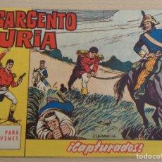 Tebeos: EL SARGENTO FURIA NÚM. 11. CAPTURADOS. ORIGINAL. EDITA BRUGUERA. BUEN ESTADO. Lote 188807457
