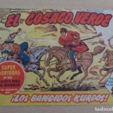 Tebeos: EL COSACO VERDE NÚM. 1. LOS BANDIDOS KURDOS. ORIGINAL. EDITA BRUGUERA. BUEN ESTADO. Lote 188826125