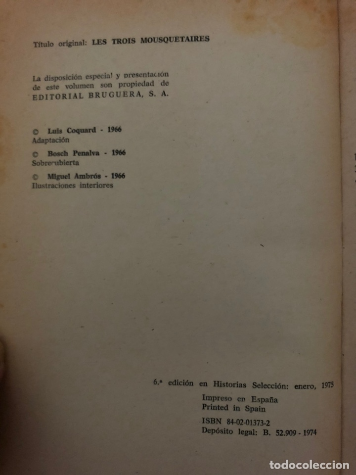 Tebeos: LOS TRES MOSQUETEROS de Alejandro Dumas (cómic, libro) - Foto 2 - 189229101
