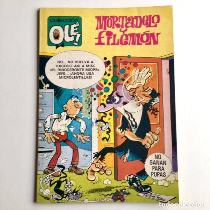 Tebeos: Revista de cómics MORTADELO colección OLÉ, nº 212, NO GANAN PARA PUPAS, 1ª edición, año 1981 - Foto 2 - 189306876