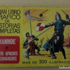 Tebeos: IVANHOE Y ENTRE APACHES Y COMANCHES (CÓMIC, LIBRO). Lote 189316993