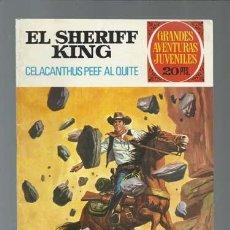 Tebeos: EL SHERIFF KING: CELACANTHUS PEEF AL QUITE, 1975, BRUGUERA, PRIMERA EDICIÓN, MUY BUEN ESTADO. Lote 189409043