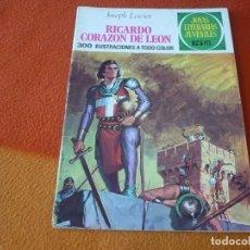 Livros de Banda Desenhada: JOYAS LITERARIAS JUVENILES Nº 19 RICARDO CORAZON DE LEON 15 PTS 1971 1ª EDICION BRUGUERA. Lote 189419968