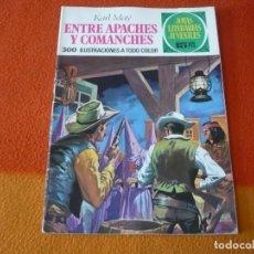 Tebeos: JOYAS LITERARIAS JUVENILES Nº 36 ENTRE APACHES Y COMANCHES 15 PTS 1971 1ª EDICION ¡BUEN ESTADO! . Lote 189436167
