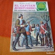 Tebeos: JOYAS LITERARIAS JUVENILES Nº 74 EL CAPITAN AVENTURERO 15 PTS 1973 BRUGUERA. Lote 189534336