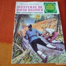 Tebeos: JOYAS LITERARIAS JUVENILES Nº 82 AVENTURAS DE DAVID BALFOUR 15 PTS 1973 1ª EDICION BRUGUERA. Lote 189535153