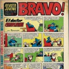 Tebeos: REVISTA BRAVO Nº 38 - BRUGUERA 1968 - ULTIMOS NUMEROS - MUY DIFICIL - BIEN CONSERVADA. Lote 189963600