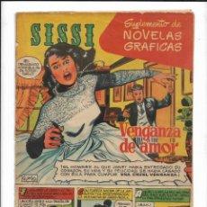 Tebeos: SUPLEMENTO DE NOVELAS GRAFICAS SISSI AÑO 1959. ES ORIGINAL RORY CALHOUN ESTA EN LA CONTRAPORTADA. Lote 190017546