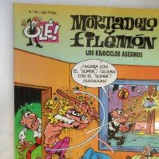 BDs: MORTADELO Y FILEMON , COLECCION OLE - Nº 85 LOS KILOCICLOS ASESINOS - 2000. Lote 190111427