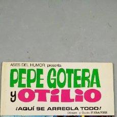 Tebeos: ASES DEL HUMOR Nº 23 PEPE GOTERA Y OTILIO AQUÍ SE ARREGLA TODO BRUGUERA 1ª EDICIÓN. Lote 190290507