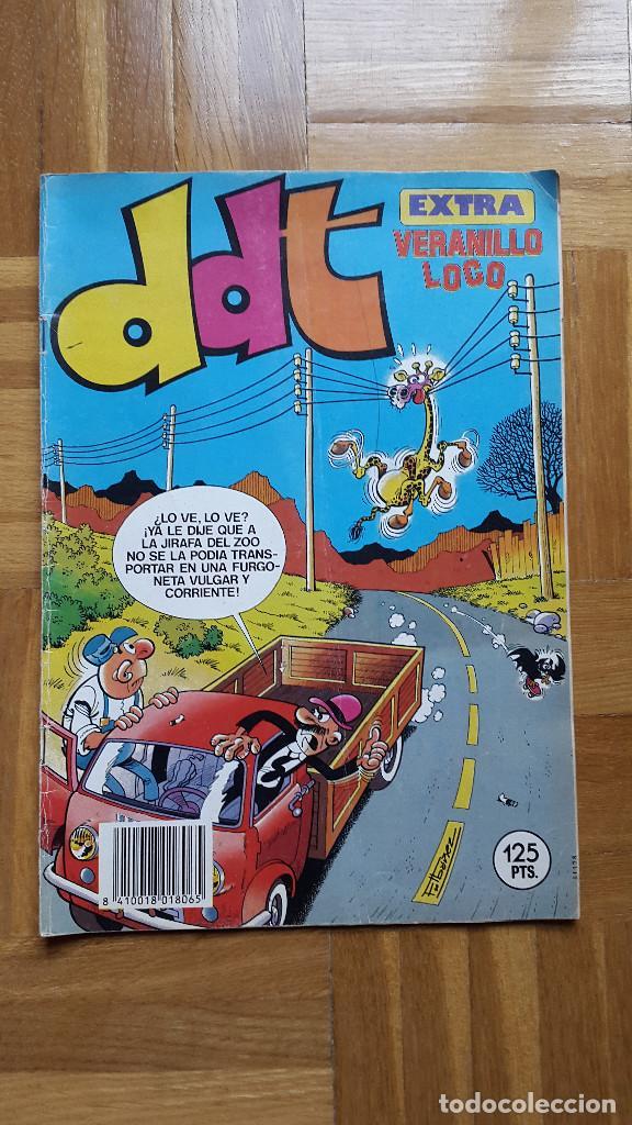 DDT EXTRA VERANILLO LOCO. PEPE GOTERA Y OTILIO. 1984.125 PTS. POSTER NOCILLA. HUG.FAMILIA TRAPISONDO (Tebeos y Comics - Bruguera - DDT)