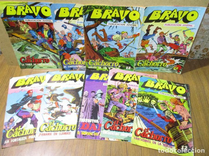 LOTE 9 COMICS BRAVO, EL CACHORRO E INSPECTOR DAN, BRUGUERA 1976 (Tebeos y Comics - Bruguera - Bravo)