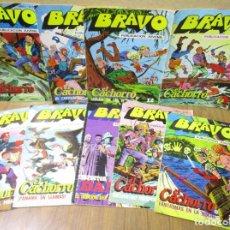 Tebeos: LOTE 9 COMICS BRAVO, EL CACHORRO E INSPECTOR DAN, BRUGUERA 1976. Lote 190472407