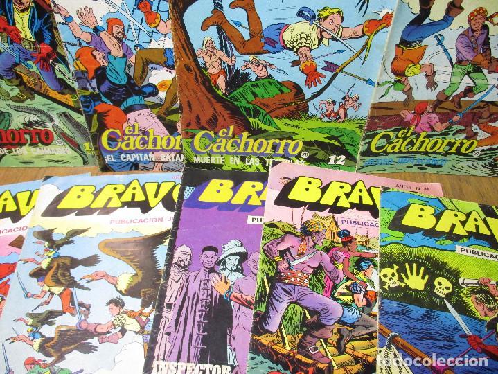 Tebeos: Lote 9 comics BRAVO, EL CACHORRO e INSPECTOR DAN, Bruguera 1976 - Foto 2 - 190472407