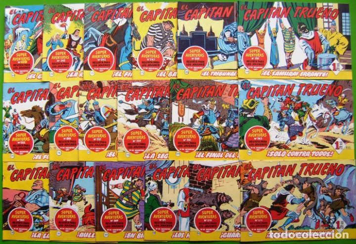 LOTE DE 18 NUMEROS DEL CAPITAN TRUENO (DEL 169 AL 186) (Tebeos y Comics - Bruguera - Capitán Trueno)