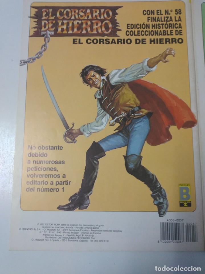 Tebeos: Colección El Corsario de Hierro Edición Histórica completa 58 números 1987-1990 - Foto 19 - 190547350