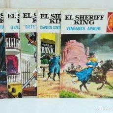 Tebeos: EL SHERIFF KING GRANDES AVENTURAS JUVENILES LOTE DE 5 EJEMPLARES. NÚMEROS 12, 14, 22, 39 Y 42. Lote 190557488