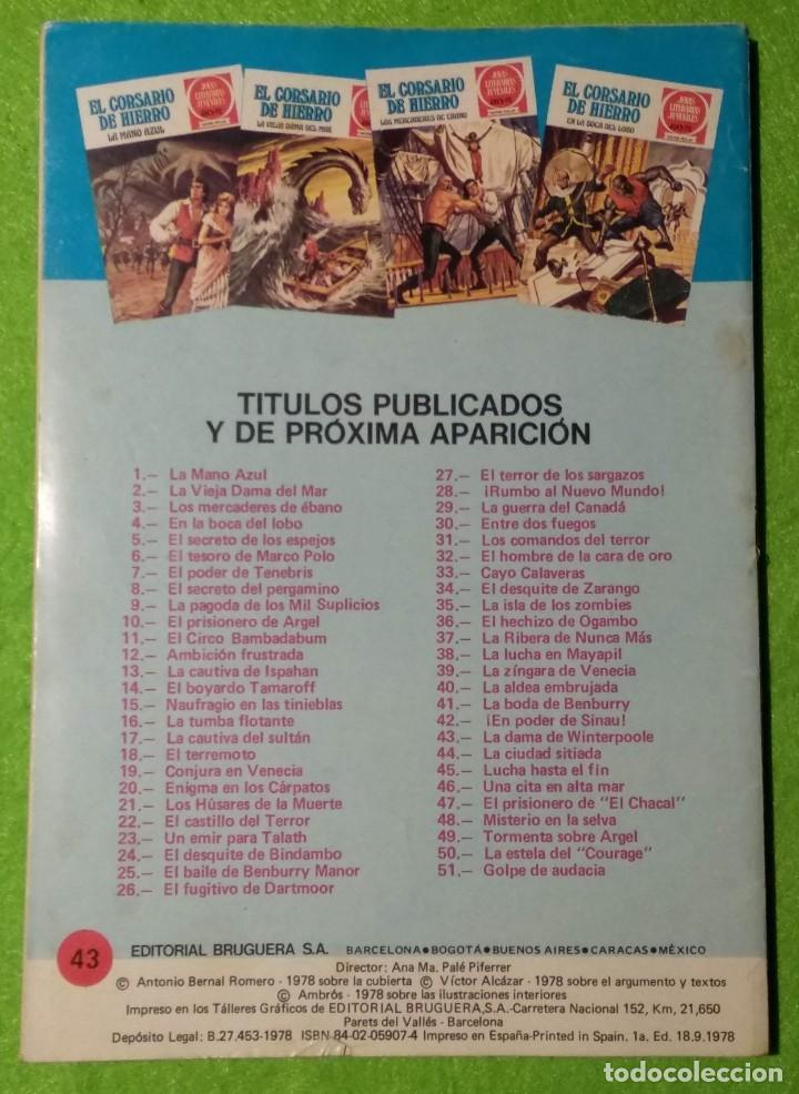 Tebeos: LOTE DE 6-JOYAS LITERARIAS JUVENILES-EL CORSARIO DE HIERRO-Nº4-48-43-41-42-15-VER TODAS LAS FOTOS - Foto 5 - 190636765