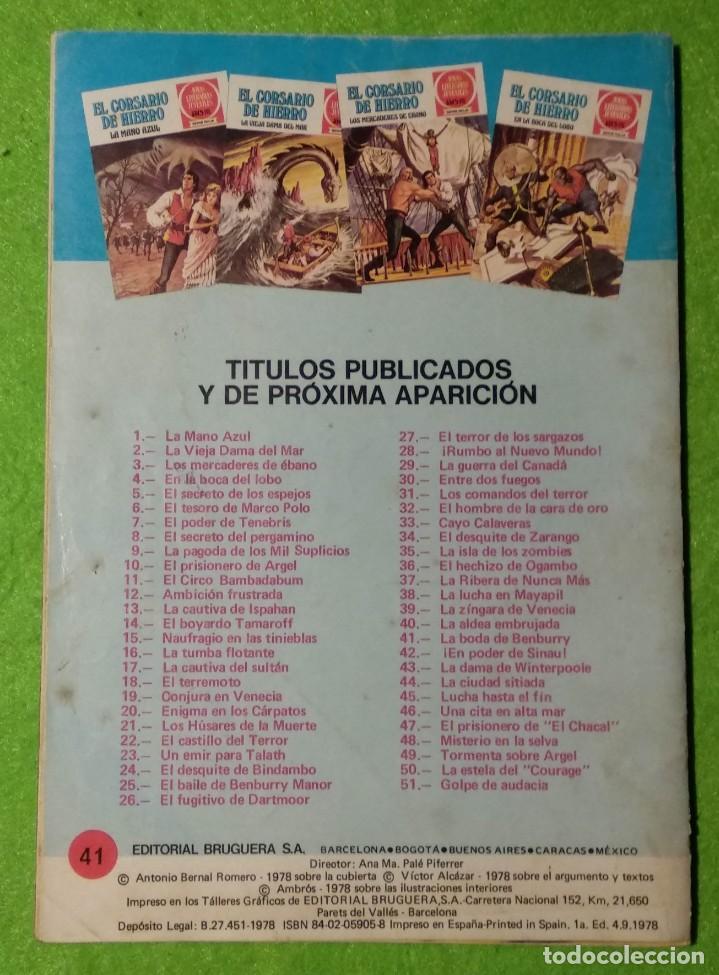Tebeos: LOTE DE 6-JOYAS LITERARIAS JUVENILES-EL CORSARIO DE HIERRO-Nº4-48-43-41-42-15-VER TODAS LAS FOTOS - Foto 7 - 190636765