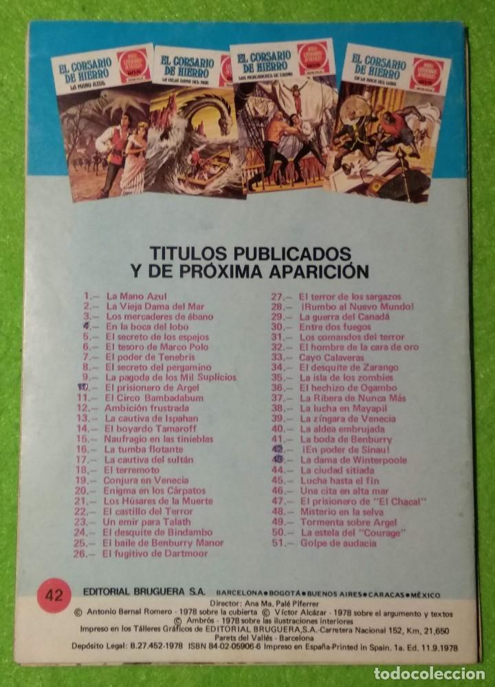 Tebeos: LOTE DE 6-JOYAS LITERARIAS JUVENILES-EL CORSARIO DE HIERRO-Nº4-48-43-41-42-15-VER TODAS LAS FOTOS - Foto 9 - 190636765