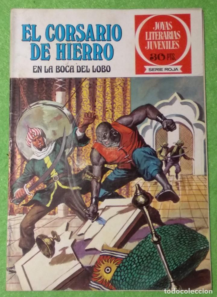 Tebeos: LOTE DE 6-JOYAS LITERARIAS JUVENILES-EL CORSARIO DE HIERRO-Nº4-48-43-41-42-15-VER TODAS LAS FOTOS - Foto 12 - 190636765