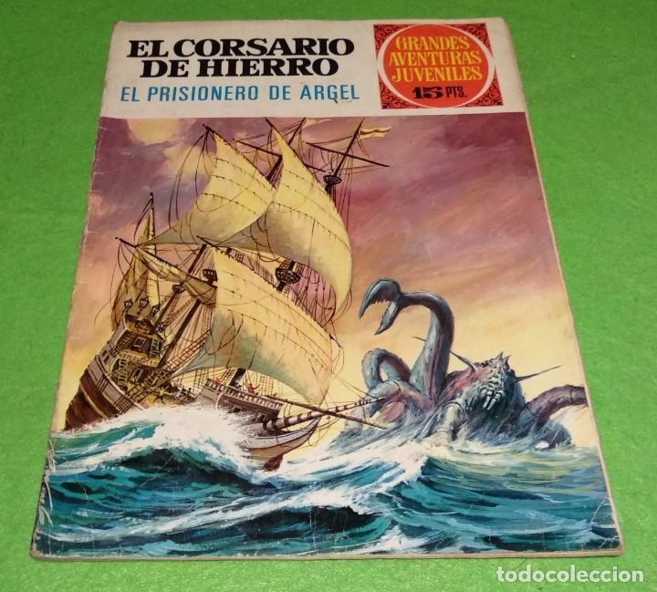 JOYAS LITERARIAS JUVENILES - EL CORSARIO DE HIERRO - EL PRISIONERO DE ARGEL Nº19 - 1972 - VER FOTOS (Tebeos y Comics - Bruguera - Joyas Literarias)